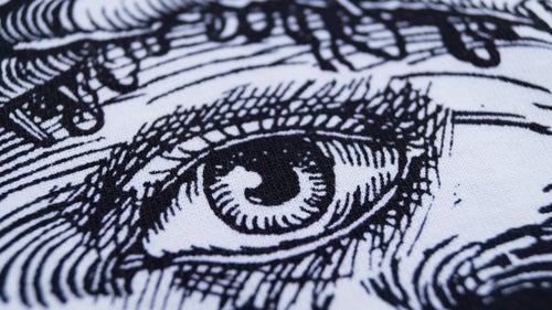 "Image of ""3rd Eye Blind"" White T-Shirt / Black Print"
