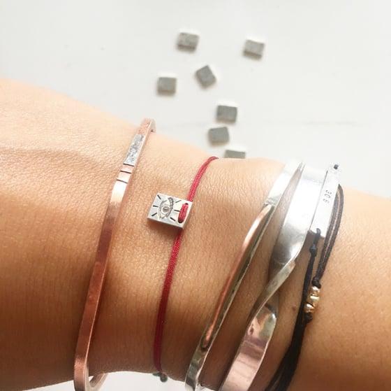 Image of square charm bracelet