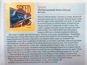 Image of SPEED: THE ONE GENUINELY MODERN PLEASURE