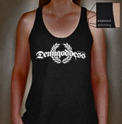Image of Demigoddess Ladies Tank Tee - Charcoal Heather Grey