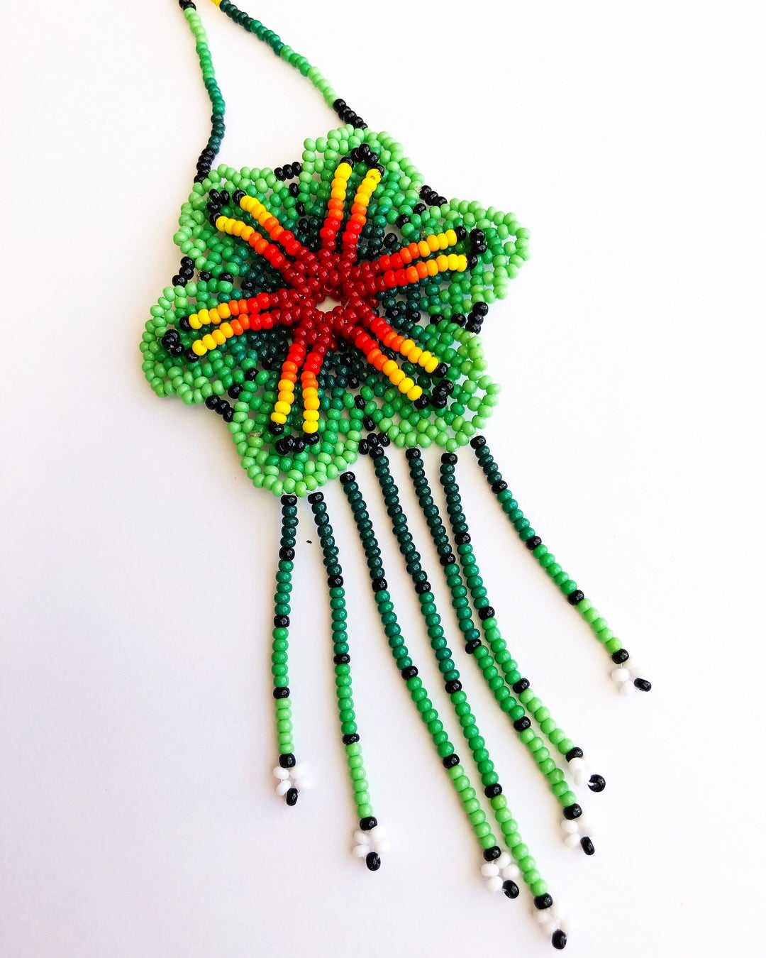 Image of Flor Huichol Long Necklaces