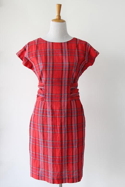 Image of SOLD Plaid Backless Wonder Dress