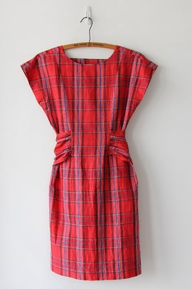 Image of SOLD Plaid Backless Wonder Dress