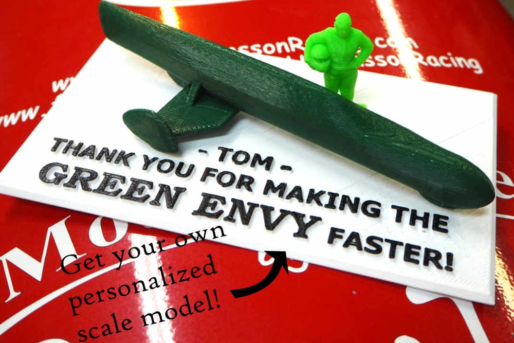 Image of Level 5: Your name on the Green Envy + personalized 3D printed scale model!