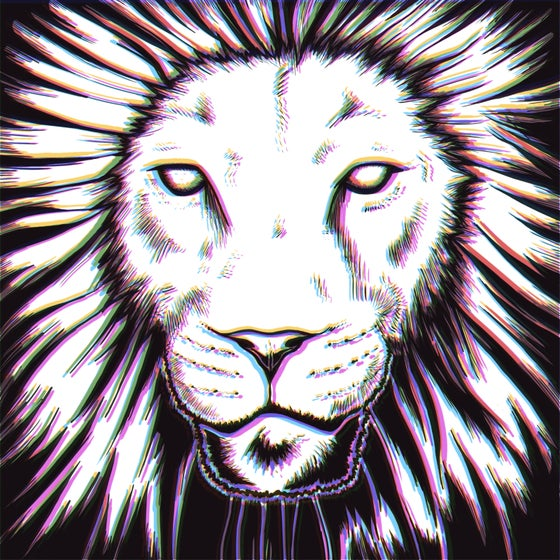 Image of CMYK Lion