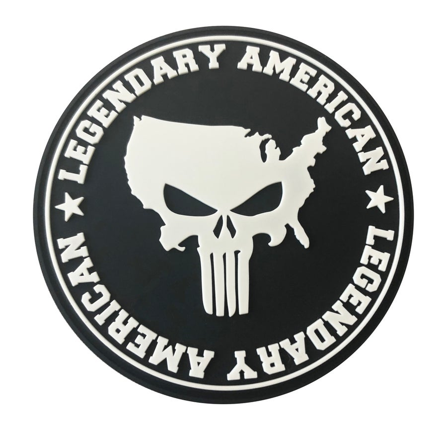 Image of Legendary American American Punisher PVC Patch