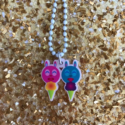 Image of Ice Cream Lickers Acrylic Necklace