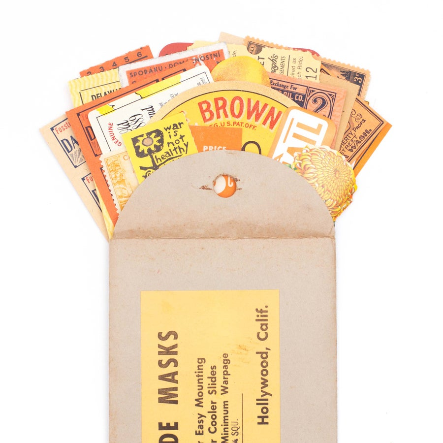 Image of Orange & Yellow Ephemera in Slide Envelope