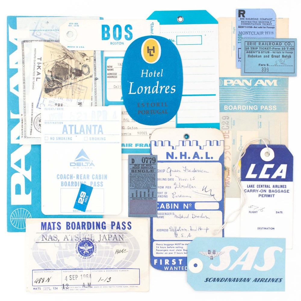 Image of Blue Travel Ephemera