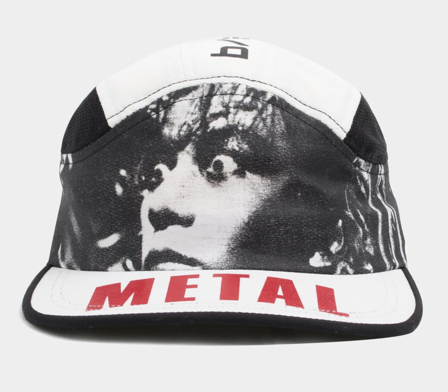 Image of Metal Fetishist Runner Cap White PRE ORDER