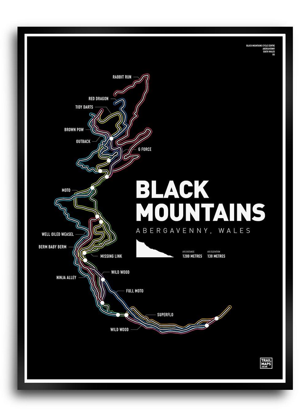Image of Black Mountains Art Print