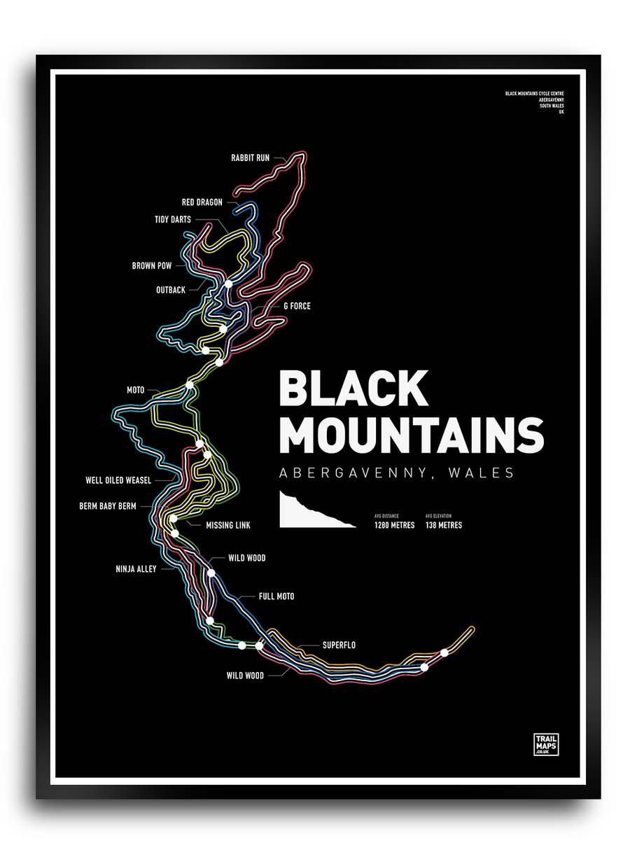Image of Black Mountains Art Print