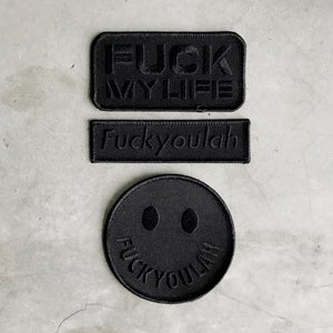Image of Black on Black Patches Set 1