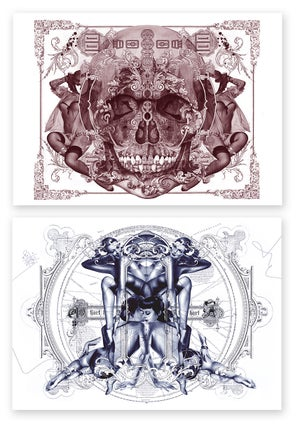 Image of HANDIEDAN POSTCARD SET | 2018 | BLUE & RED EDITION