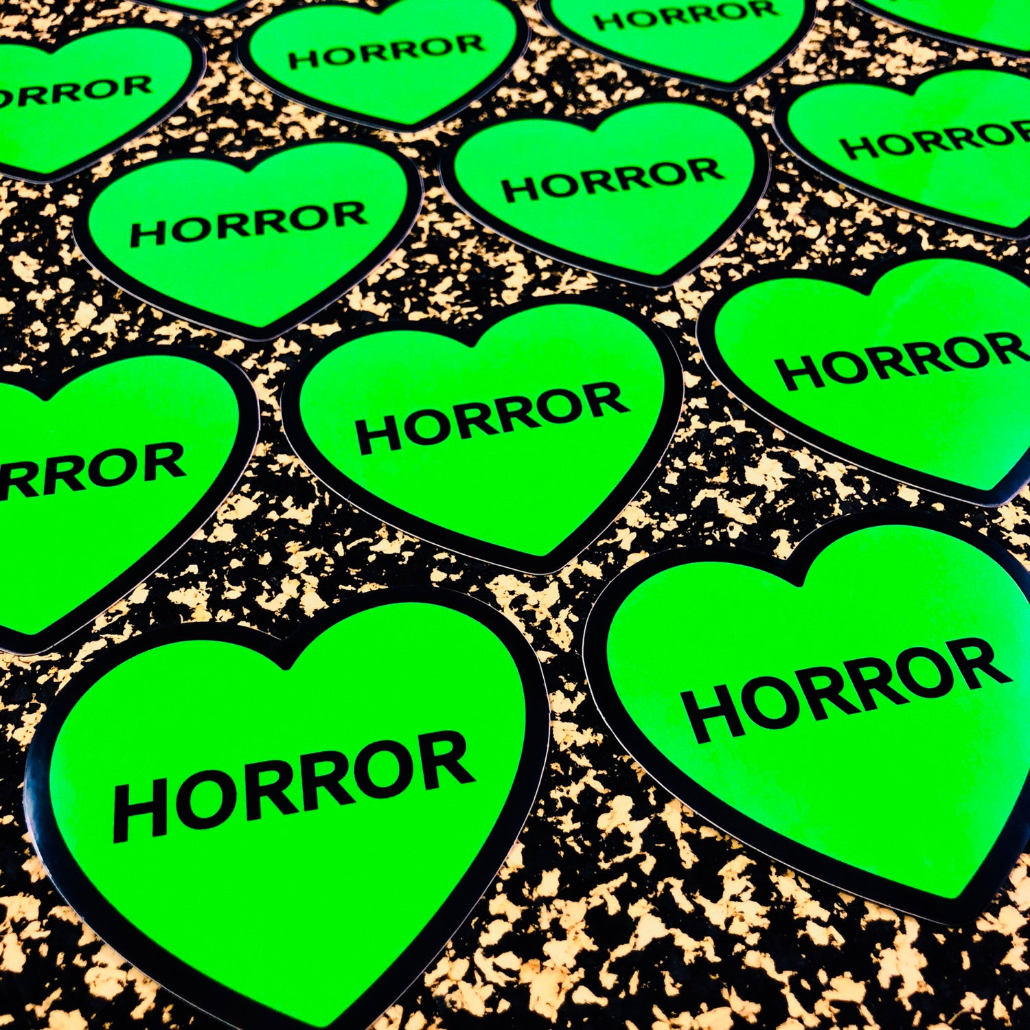 Image of Horror Heart Die Cut Sticker