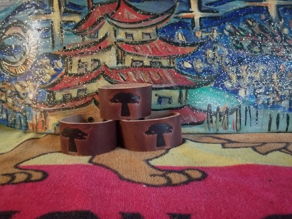Image of Strength Tree of Life Leather Bracelets