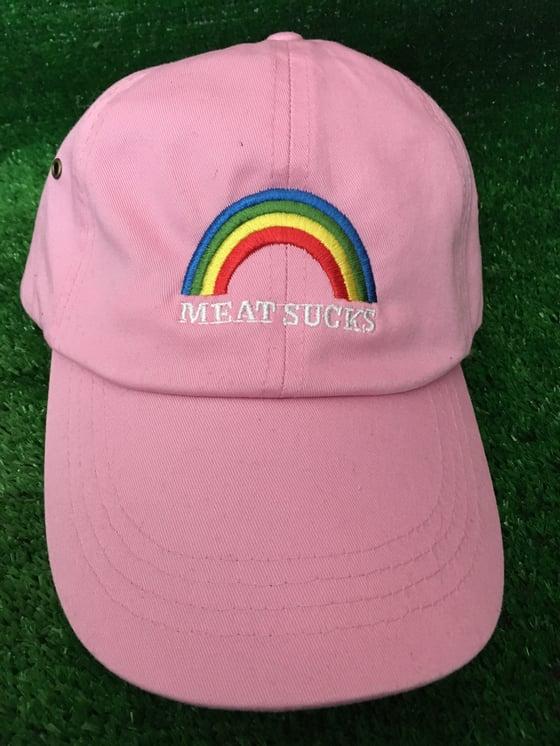 Image of Meat Sucks Rainbow hat