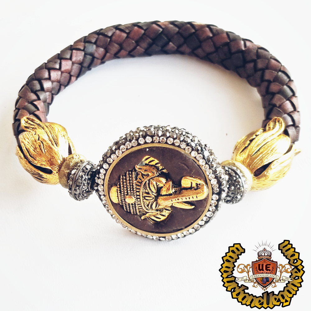 Image of Dharma Big Dreams Leather Ganesh Bangle