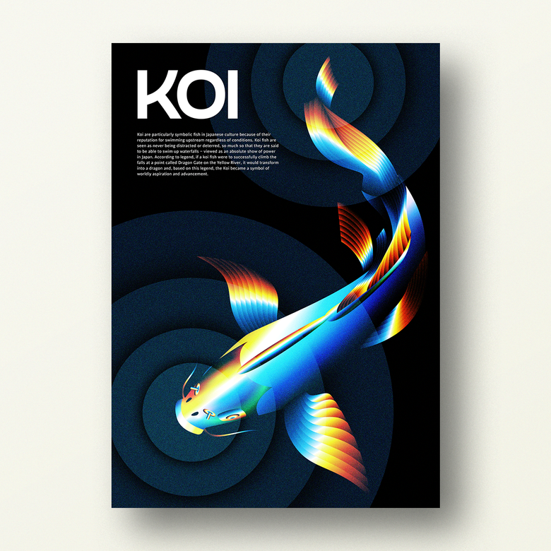Image of KOI – Japanese Lucky Poster (1/3)