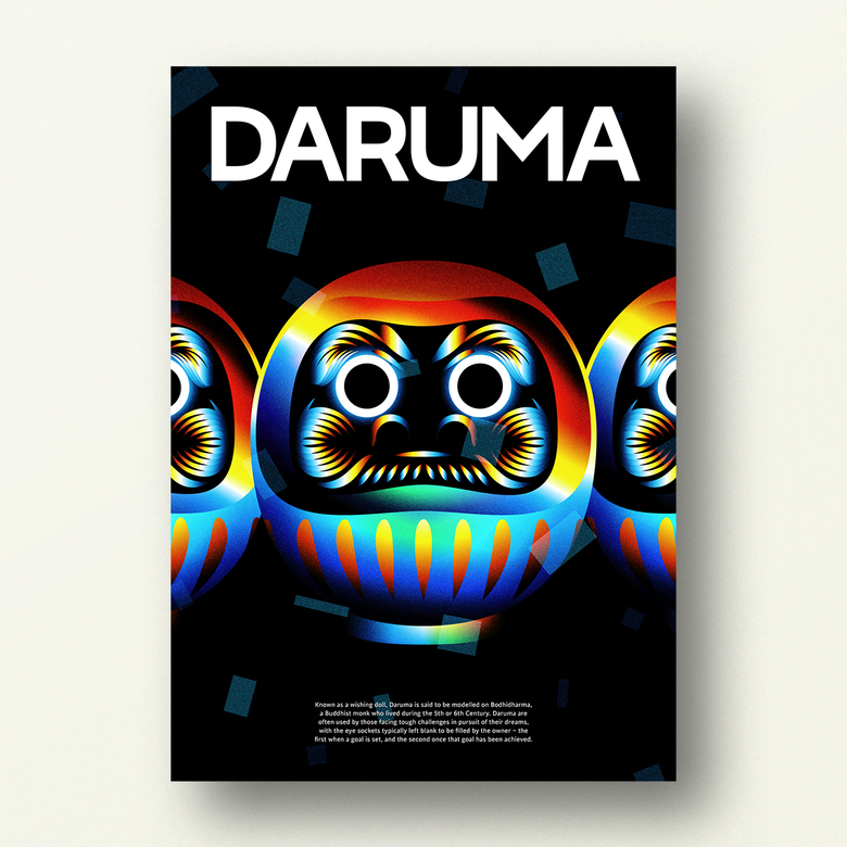 Image of DARUMA – Japanese Lucky Poster (2/3)