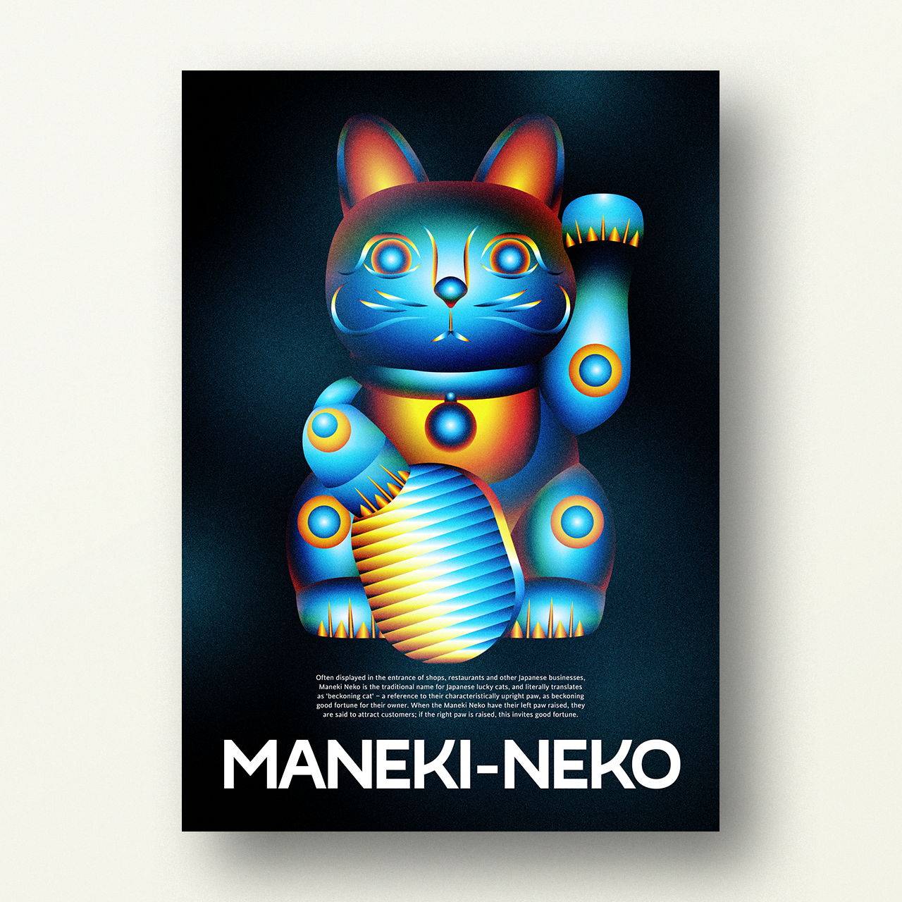 Image of MANEKI-NEKO – Japanese Lucky Poster (3/3)
