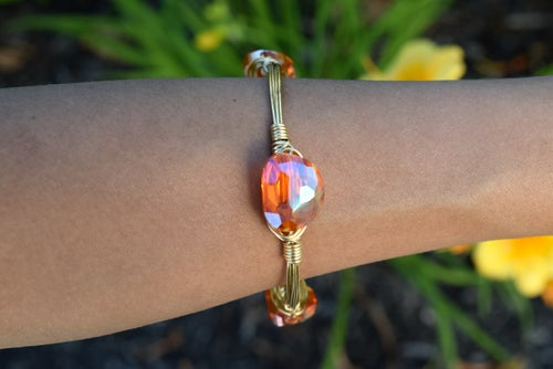 Image of Orange Iridescent bangle