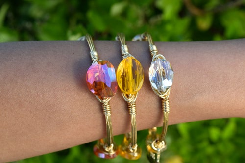 Image of Petite Clear Crystal bangle