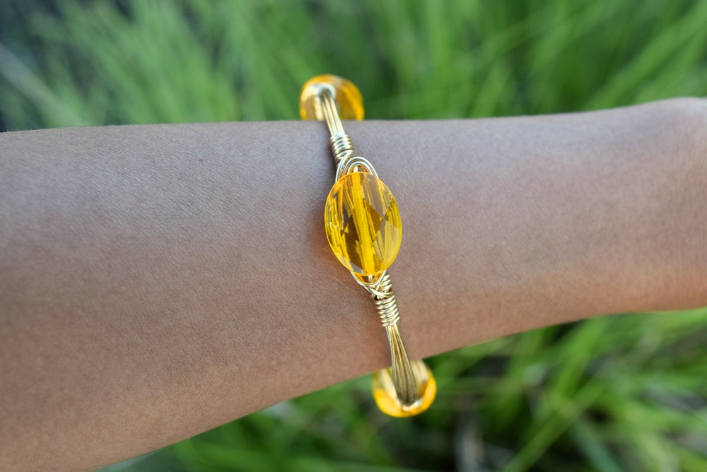 Image of Marigold Crystal bangle