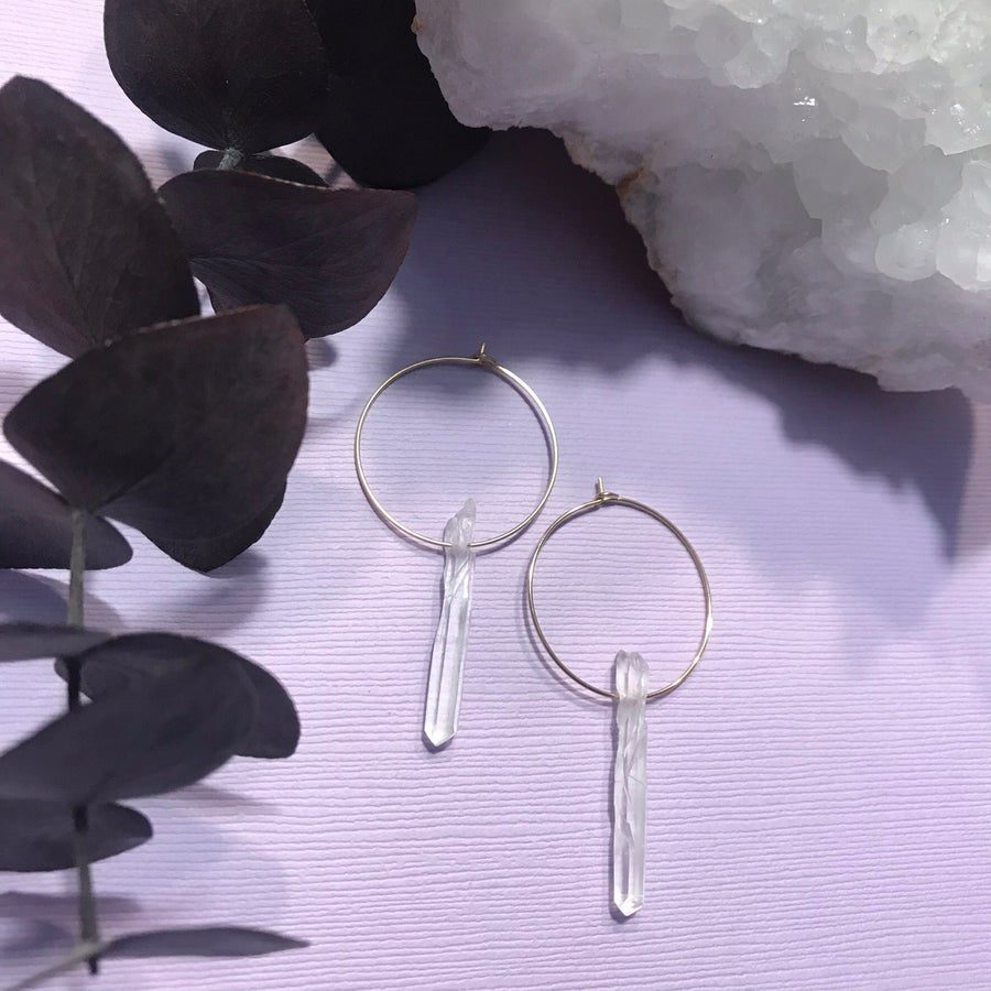 Image of LightWork Quartz Hoops