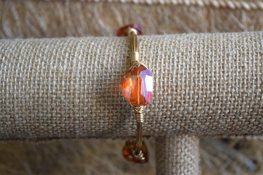 Image of Orange Iridescent bangle