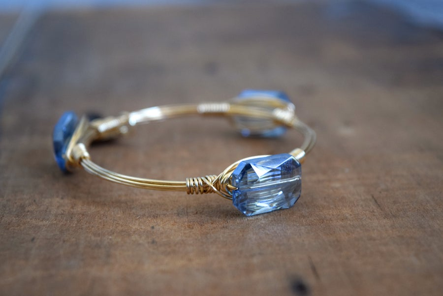 Image of Blue Crystal bangle
