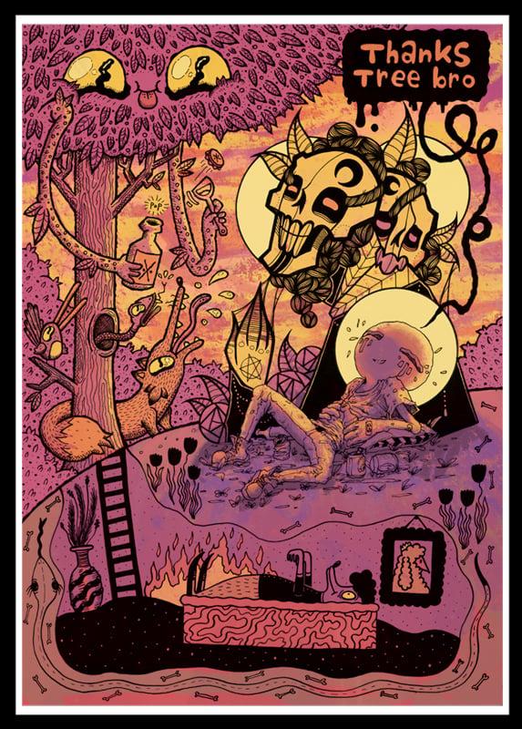 Image of Limited Edition Colour Print #02 ::Treebro::
