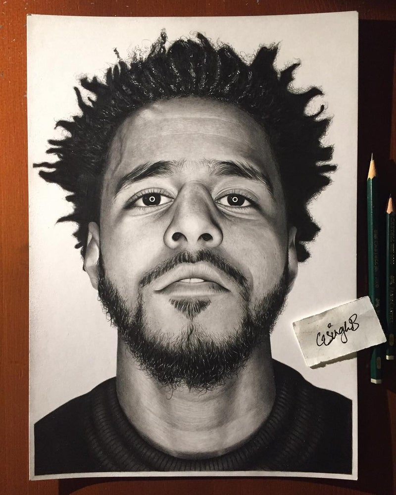 Image of J. Cole (Print)