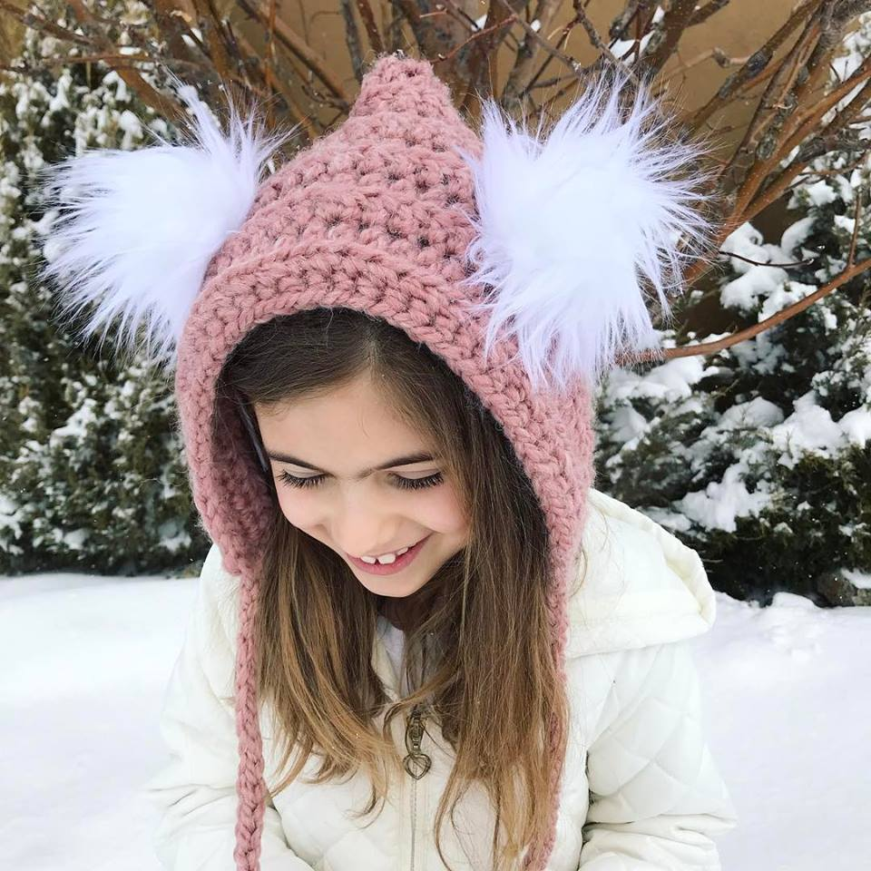 Image of Fur Pom Pixie Bonnet