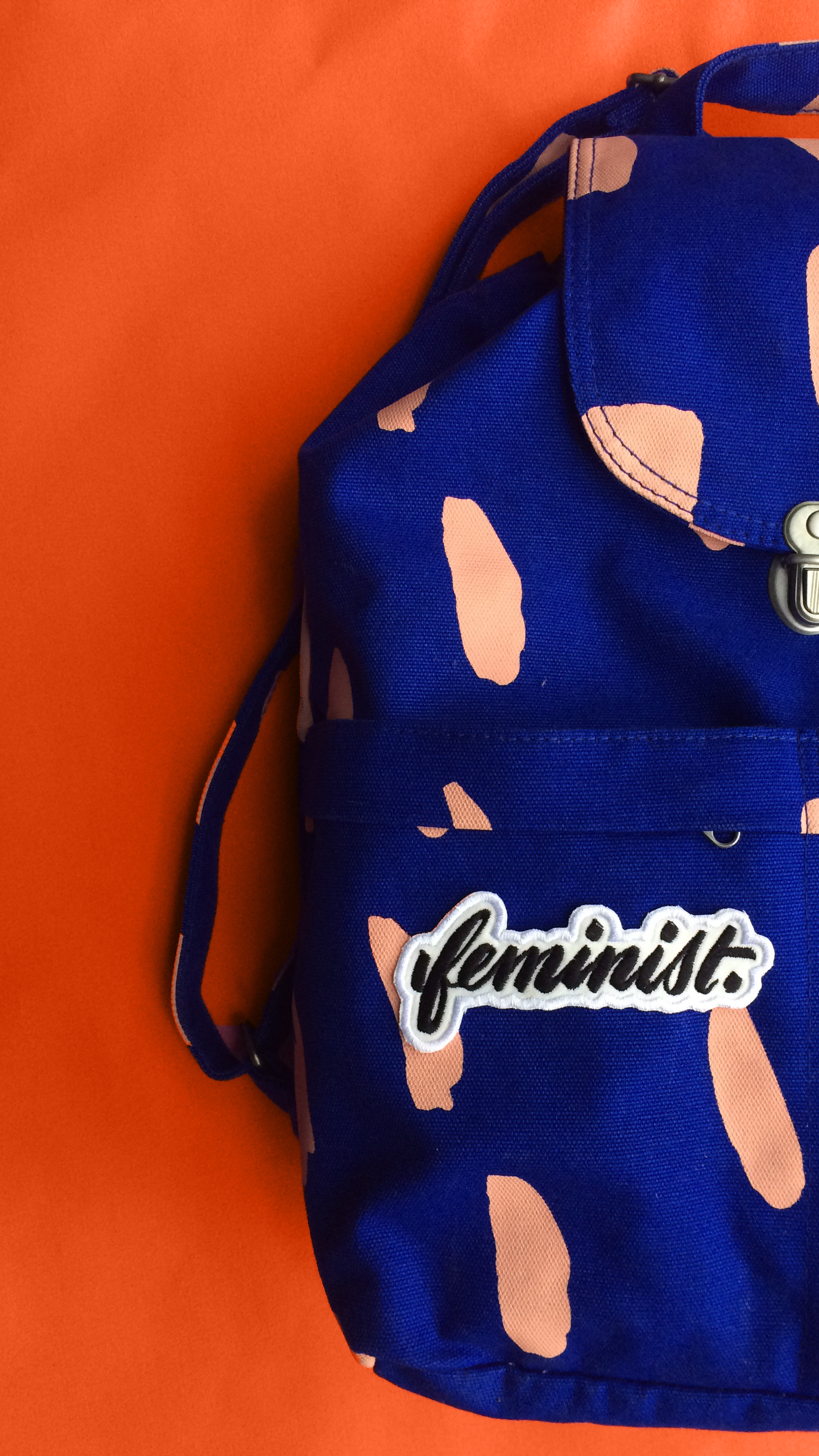 Image of Big F, Little F feminist embroidered patch