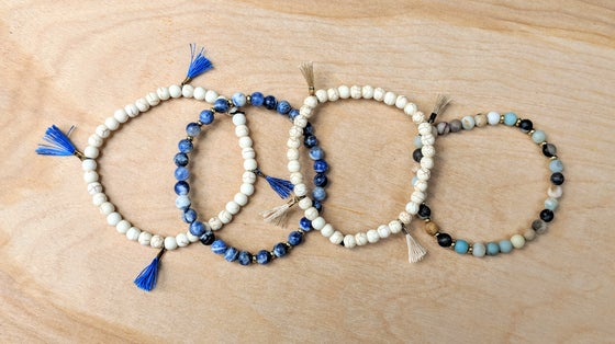 Image of Blue Lapis Bracelet set&Solar System Bracelet set