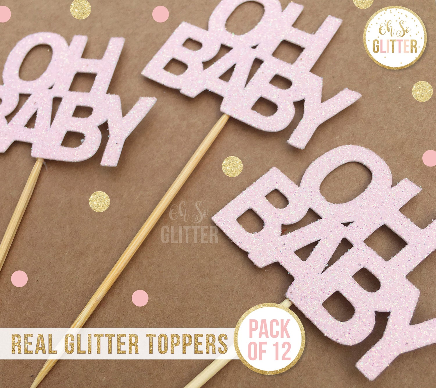 Image of Oh Baby cupcake toppers