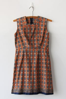 Image of Batik Tiles Cotton Dress