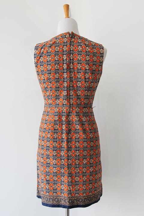 Image of Batik Tiles Cotton Dress