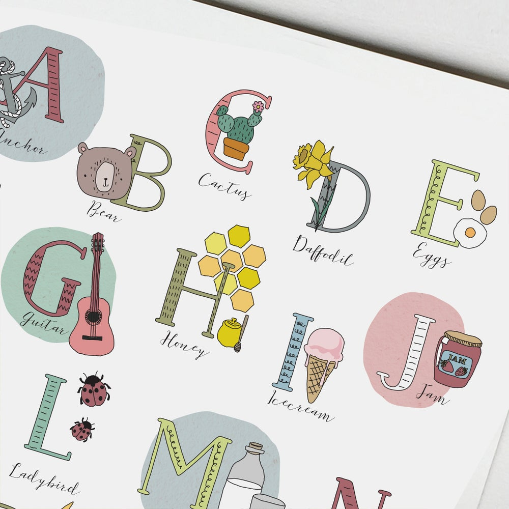 Image of Personalised 1st Alphabet Print