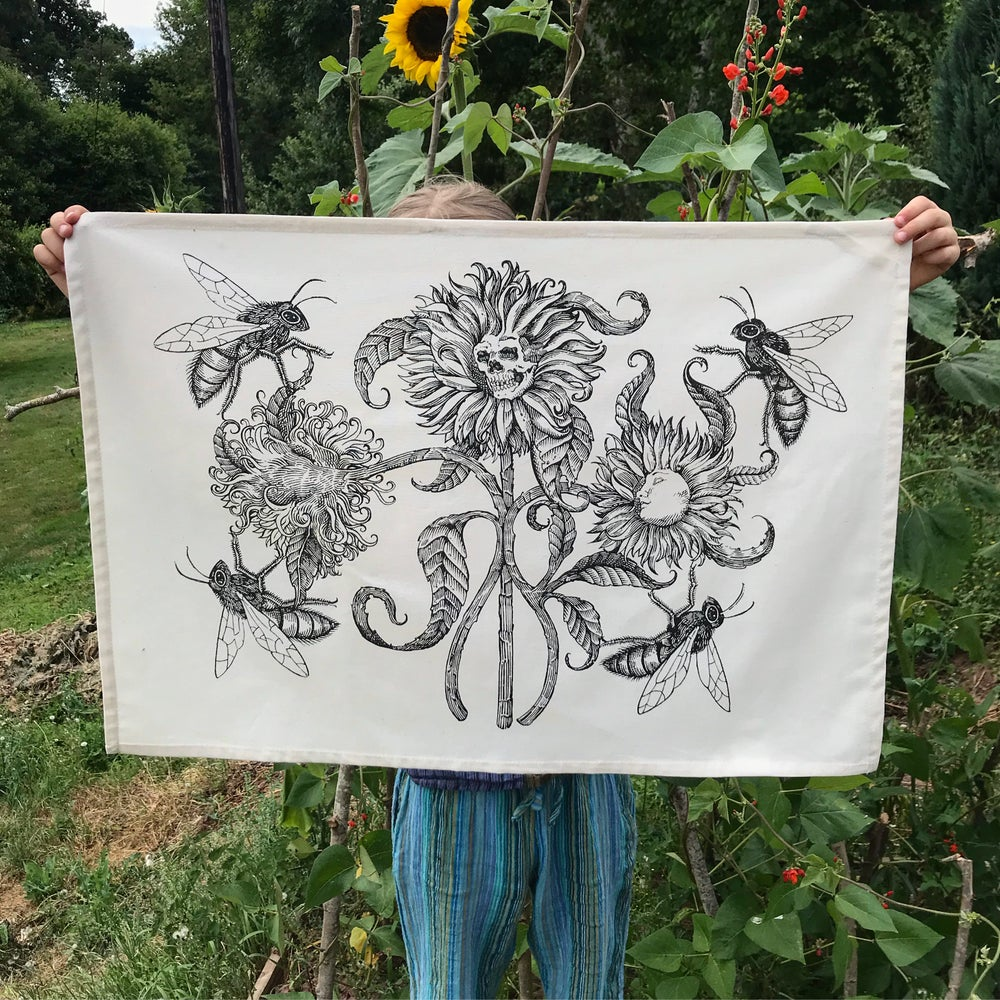 Image of Summer bloom tea towels