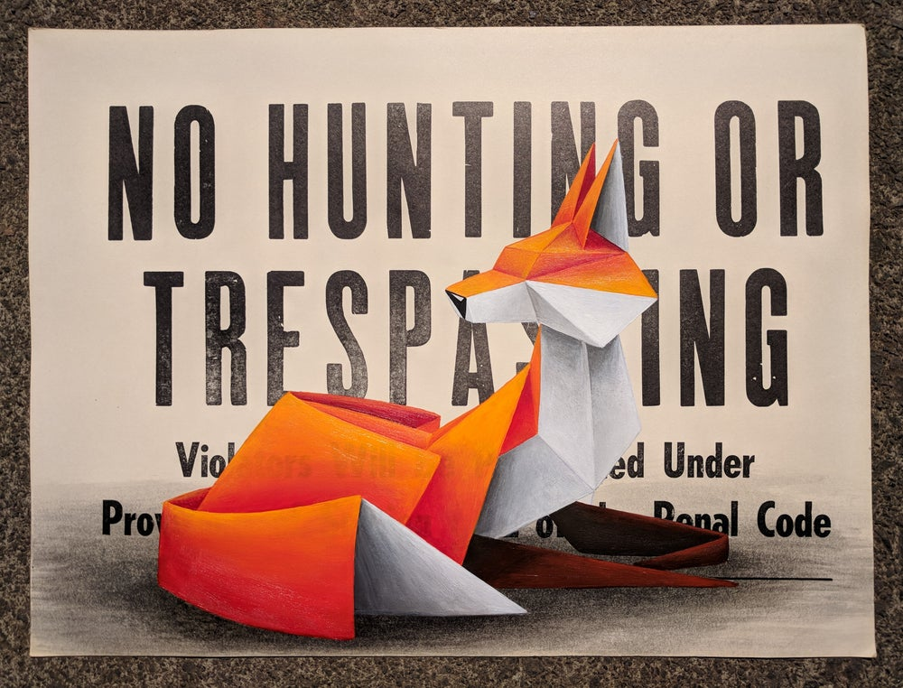 Image of 'No Hunting #6' original painting