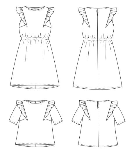 Image of Patron PDF robe/top Estrelle