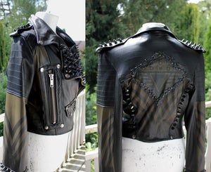 Image of TACTICAL STUDDED BIKER JACKET