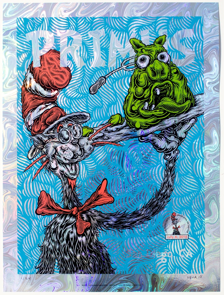 Image of Primus Gig Poster: Green Eggs and Pork, 2018 (Variant: Foil)