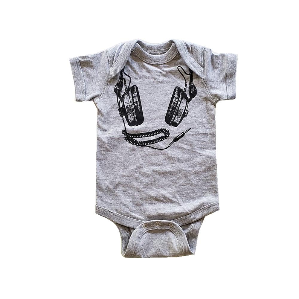 Image of Headphones ) Infant Fine Jersey Bodysuit