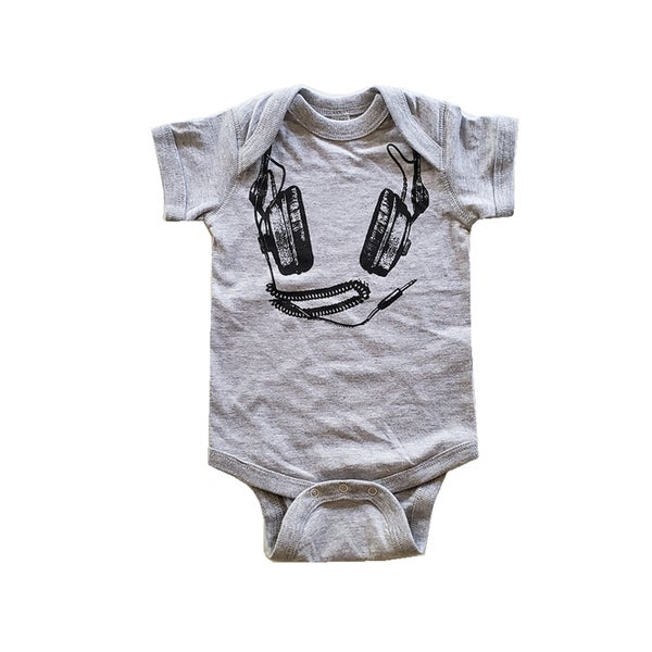 Image of Headphones ) Infant Fine Jersey Onesie / Bodysuit