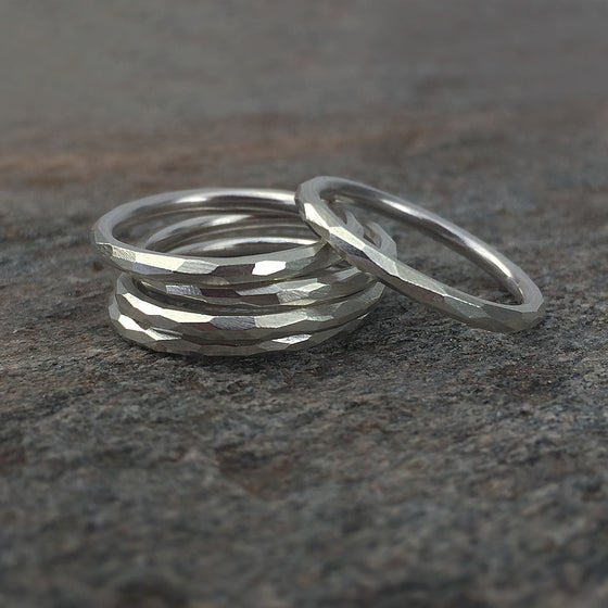 Image of Stack of 5 Acervus Rings