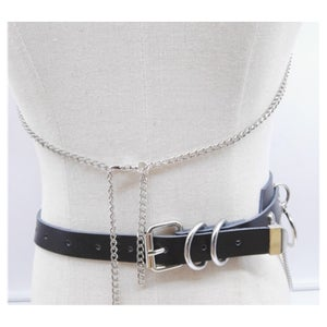Image of Leather O Ring chain Belt