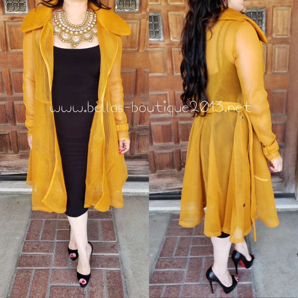 Image of Mustard Couture Coat